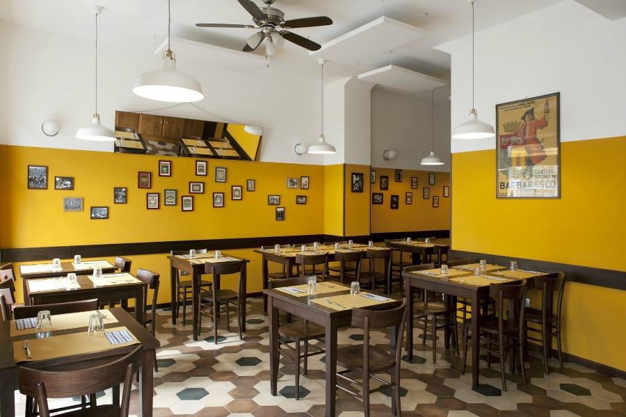 L'interno della sala - questa foto l'ho presa da qui: http://www.archiportale.com/news/2015/12/design-trends/una-trattoria-old-school-nel-cuore-di-milano_49311_39.html