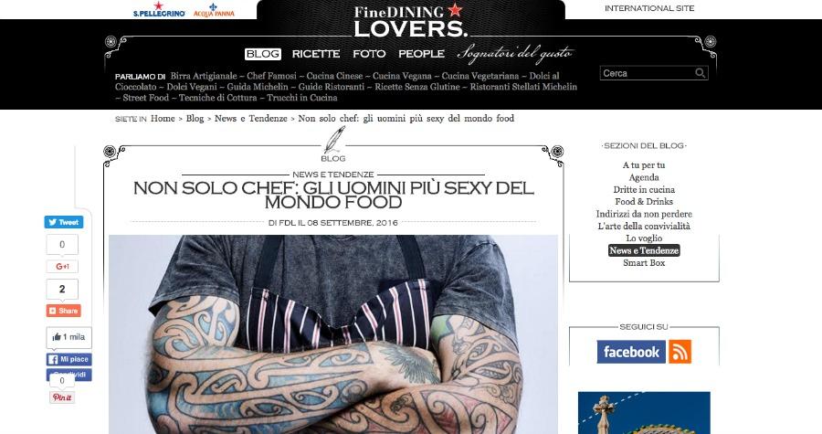 fine dining lovers uomo senza tonno