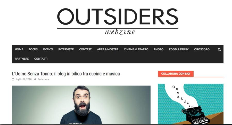 outsiders uomo senza tonno