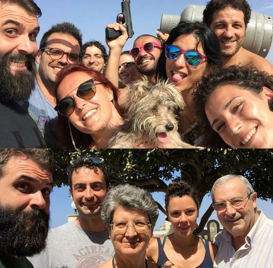 Dario, Noemi, Andrea, Nicola, Orietta, Germana, Daniele, Peppe (Scordia, 16 agosto 2016) / Carlo, Sara, Alessia, Vittorio (Scoglitti, 17-19 agosto 2016)
