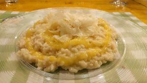 risotto con crema di mango e raspadura - uomo senza tonno