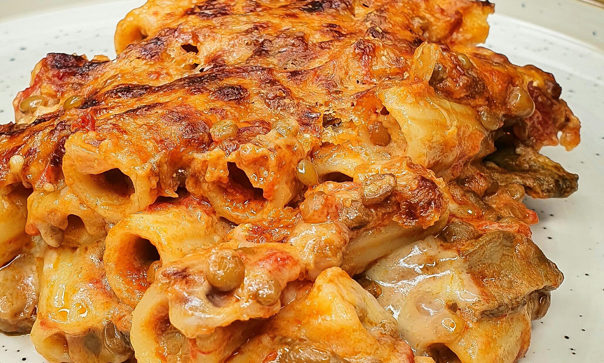 Ricetta Ragu Lenticchie.Pasta Al Forno Con Ragu Di Lenticchie E Funghi Porcini Uomo Senza Tonno
